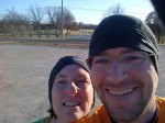 Kate and I before a trail run last winter in Ladahl Park.