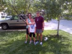 Kate, Tom and I after last Sunday's Little Blue Trail run.
