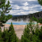 A spectacular shot -- compliments of my BlackBerry -- of Grand Prismatic Spring.