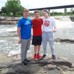 Joe, Maggie and Tom at Falls Park in Sioux Falls, S.D.