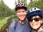 Kate and Matt pose for a quick selfie on the return ride from Lone Star Geyser.