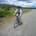 Kate riding the trail to Mystic Falls.