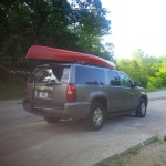 The Royalex Wenonah Wilderness strapped on and ready to go.