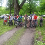 The Troop 228 guys preparing to hit the Katy Trail.